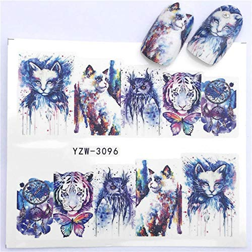 1 PC Hot Nail Sticker Black Butterfly Note Beauty Water Transfer Stamping Nail Art Tips Nail Decor Manicure Decal,YZW-3096