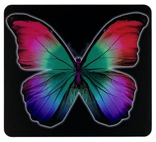 WENKO Plaque multi Papillon Nocturne - pour plaques de cuisson vitrocéramiques, planche à découper, Verre trempé, 56 x 0.5 x 50 cm, Multicolore