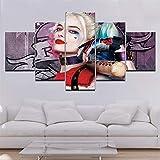 Moderna Art 5 Piezas/Set HD Cuadro en Lienzo Impresión Artística Imagen Gráfica Decoracion de Pared Pintura de Pared Corredor Oficina Sala Decorativo Animal 100/80/60x40CM Frameless
