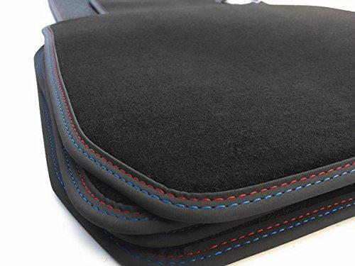 kh Tapis de sol en velours de qualité supérieure avec double couture Noir/rouge/bleu