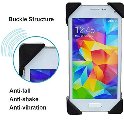 HUMBLE Universal 360 Degree Adjustable Mobile Phone Holder for Bicycle | Bike | Motorcycle | Ideal for Maps | Navigation | Charging – Black
