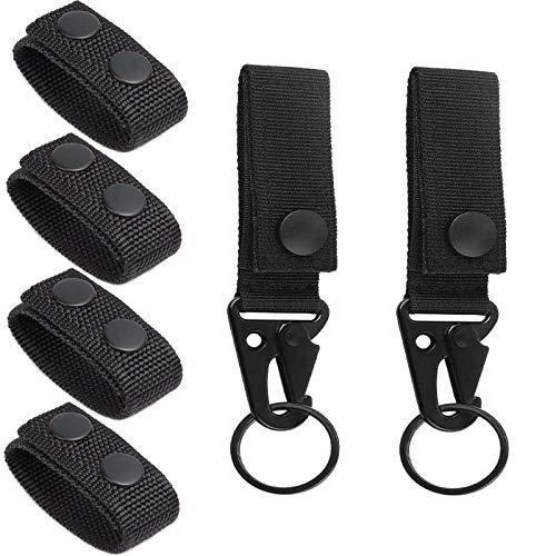 Floatdream 4 Stück Duty Belt Keeper mit 2 Stück Taktischer Hängender Gürtel Karabiner, Gürtel Karabiner aus Nylon Gürtel Keeper, für Camping, Wandern