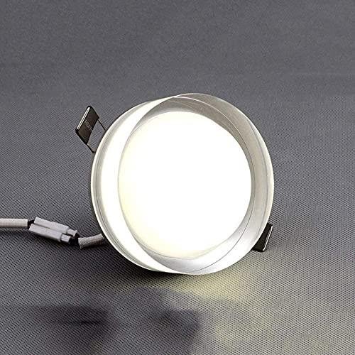 XQMY Downlight LED con atenuación de Tres Colores, luz de Pasillo de Sala de Estar, lámpara de 7.5 Orificios, luz de Techo incorporada con Personalidad Creativa, una luz, luz de Tres Tonos,