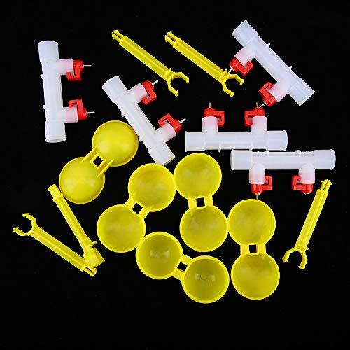Kadimendium El estándar de bebederos de tetina es a Prueba de Fugas para Pollos de codorniz(1/2', 12)
