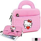 Phenix-Color Hello Kitty Little Bear Bag Sleeve Case for Ipad 2 3 4 / iPad Air / iPad Air2 Google Nexus Hp Touchpad Motorola Xoom, Smasung Galaxy Tab 10.1V, and any 10.1inch or less Tablet (Polka Dot Pink)