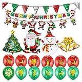 DANSHEN Juego de globos de película de aluminio con diseño de muñeco de nieve y muñeco de nieve para decoración de fiestas de Navidad