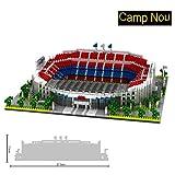Flytoo Serie de Campo de fútbol mundialmente Famosa 3800 unids Nano Mini Kits de Bloques de construcción de construcción Infantil de Bricolaje Regalos de Juguete(Camp NOU)