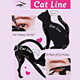Everpert Cat Eyeliner Stencil Maquillaje modelos de cejas tarjeta de plantilla de sello 2pcs / Set