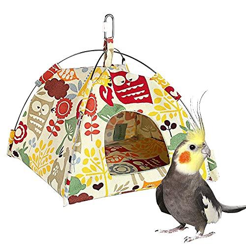 FeiKe Nido De Pájaro Jaula De Pájaro Colgante Jaula De Loro Nido De Loro Hamaca De Loro Tienda para Mascotas Nidos Colgantes Cama,M