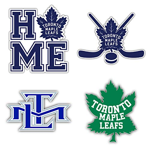 Toronto Canada Maple Leaf Hockey Die-Cut Sticker - Set of 4 Decals 5' Longer Side