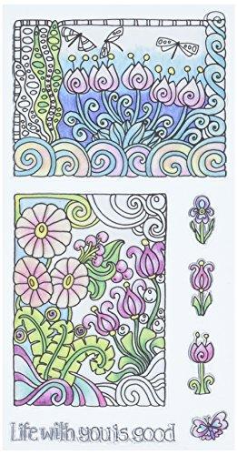 Hampton Art Color Me Clear Stamps 4'X7.75'-Life