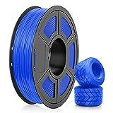 Filamento TPU 1.75mm, SUNLU TPU Filamento Impresora 3D, Flexible Filamento 1.75, Precisión Dimensional +/- 0.03mm, 0.5kg Spool, 1.75 TPU Azul