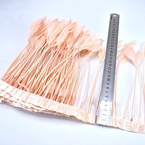 Zamihalaa 2Meters Leather Pink Goose for Trims S Ribbon Feathers 40% Super popular specialty store OFF Cheap Sale