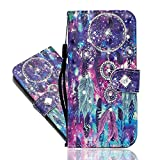 IMEIKONST Diamante Case for Honor 8 Lite, Cuero PU 3D Funda Brillo Bling Magnetic Correa bookstyle Card Holder Cartera Soporte Flip Funda para Huawei P8 Lite 2017 Crystal Star Wind Chimes CY