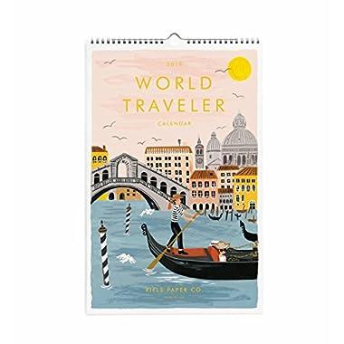 Rifle Paper World Traveler Wall Calendar 2019