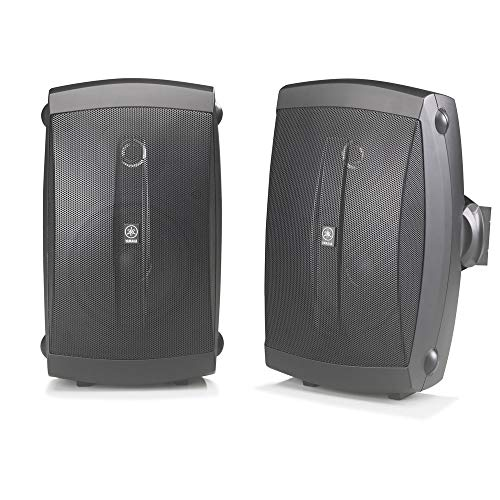 Yamaha NS-AW150BL 2-Way Indoor/Outdoor Speakers (Pair, Black) - Wired (Renewed)
