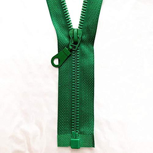 2-5 piezas, 5# 25-70 cm cremallera de resina desmontable apertura de apertura cierre automático ecológico cremallera de plástico para coser traje-Verde, 5 piezas, 70cm