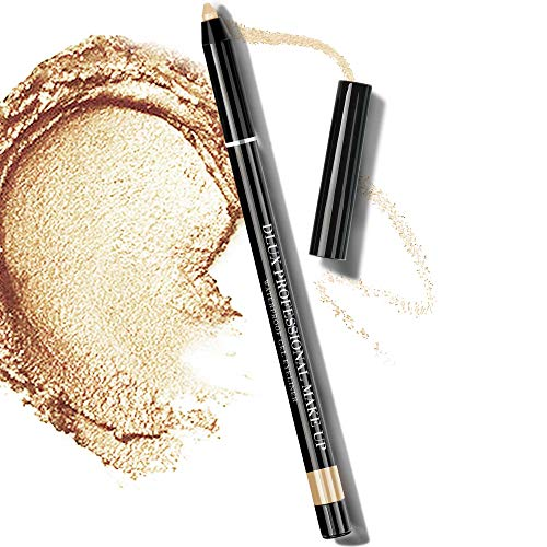 Dlux Professional - Semi Permanent Pencil Stick Cream Eye Shadow, Waterproof Gel Eyeliner for Eye Makeup, Perfect Long Lasting, Smooth, Smudge Proof, Color Tattoo, Shimmer Type, 4g, Made in Korea