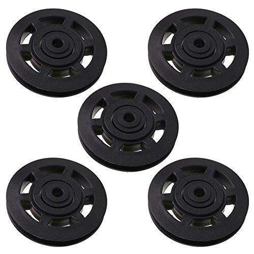 Forfar 5Pcs Teniendo rueda de la polea Para Cable Gym Fitness Entrenamiento Equipo de ejercicios Partes