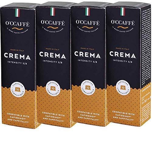 O'CCAFFÈ – Crema   Tchibo Cafissimo kompatible Kaffeekapseln   120 Stück   Kaffee aus extra langsamer Trommelröstung aus italienischem Familienbetrieb