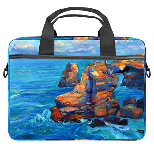 Sea Illustration Laptop Bag The Laptop Briefcase Shoulder Messenger Bag Case Sleeve