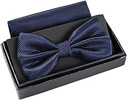 Massi Morino Noeud Papillon Homme I Boîte Cadeau avec Pochette et Nœud I Cravatta Papillon Hommes régable