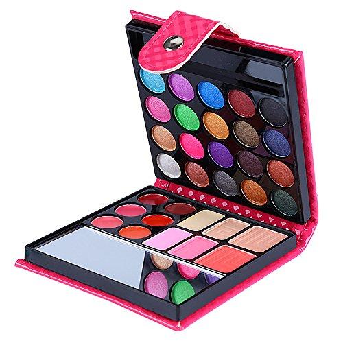 Momola Maquillage brillant à lèvres longue tenue 32 couleurs imperméable fard à paupières,Ombre à paupières unique en forme de portefeuille (A)