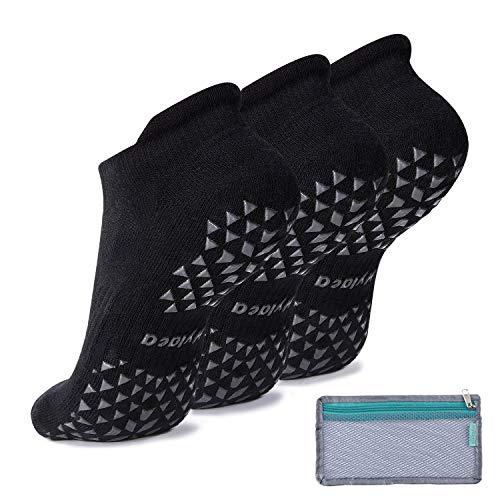 Grip Socks for Pilates, Hospital, Barre, Non Slip Yoga Socks for Women...
