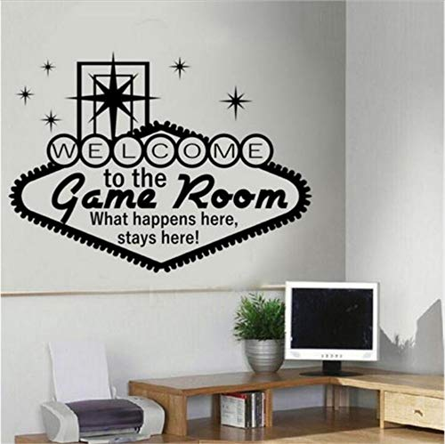 Casino Sticker Games Room Juegos De Azar Sticker Posters Vinilo Tatuajes De Pared Decoración Mural 58X76Cm Etiqueta De La Pared