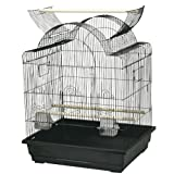 King's Cages ES 2521 OP Open top Bird cage Toy Toys Lovebirds Parakeets Canaries (Black)