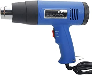 AVGDeals 1500W 110V Heat Gun Hot Air Gun Dual-Temperature with 4 Nozzles Power Tools Blue | with four stainless steel concentrator tips to suit your needs.