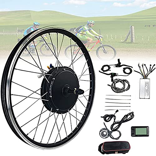 XYEJL Kit Conversión Bicicleta Montaña/Kit De Conversión De Bicicleta Eléctrica/Motor De Rueda Delantera Y Trasera De 48v 1000w / con Pantalla Multifunción,FrontWheel-28inch