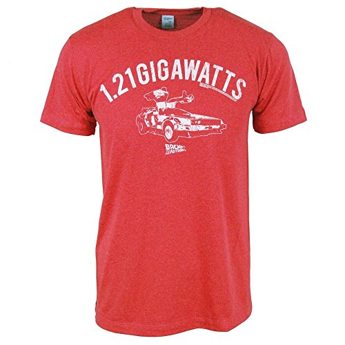 Mens Back to The Future 1.21 Gigawatts T-Shirt Rouge Small - Chest 32-34in Red