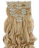 S-noilite Set 8pcs 43cm extension capelli clip nelle estensioni dei capelli della parte...