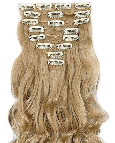 S-noilite® Set 8pcs 43cm extension capelli clip nelle