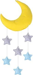 Vesil Baby Mobile for Crib Moon and Stars Baby Nursery Ceiling Crib Mobile Kids Room Hanging Decor