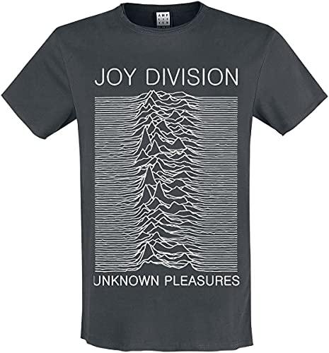 Amplified Joy Division-Unknown Pleasures T-Shirt, Grigio (Carbone), XL Uomo