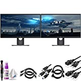 Dell S2417DG QHD 23.8' 16:9 LCD Gaming Monitor - 165 Hz Refresh Rate & NVIDIA G-Sync Technology - with HDMI Cable, Cleaning Set and More - Dual Monitor Bundle