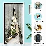 HRUI Mosquitera Puerta Caravana 145x210cm Aire Fresco-Adapta Poderoso Imanes Instalación fácil Mantiene Los Mosquitos De para Puerta del balcón