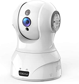 COOAU ネットワークカメラ 300万画素 監視防犯IPカメラ ベビーモニター ペットカメラ WiFi強化 スマホ遠隔操作 双方向音声 自動追跡 顔認識 音声検知 動体検知 録画可能 ベビー/ペット/お年寄り見守り 日本語アプリ 技適認証済み ホワイト