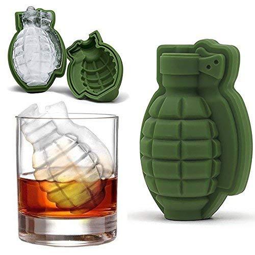 1 moule en silicone 3D en forme de grenade pour glaçons, décoration de gâteaux, excellent cadeau de bar et ustensiles de cuisine