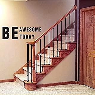 LUCKKYY Be Awesome Today Inspirational Wall Decals Quotes,Word Wall Sticker Quotes,Motivational Wall Decal,Family Inspirational Wall Art Sticker (Black)