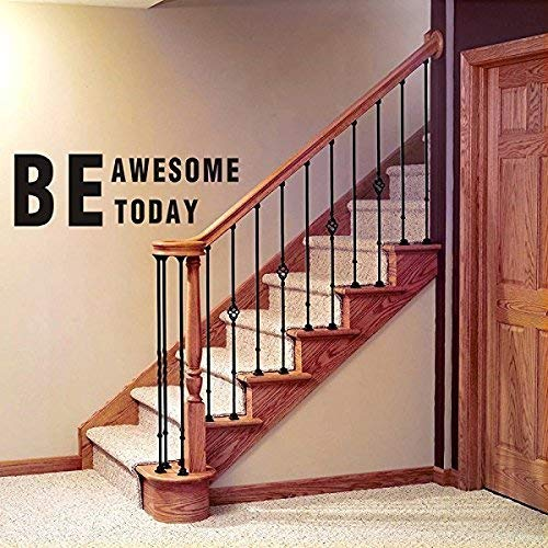 LUCKKYY Family Wall Decal Be Awesome Today Words Quote Vinyl Family Wall Decal Family Room Art Decoration Living Room Decor Decoration for Home Decor (Awesome)