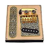 Bao Xiang Guitarra Pastillas Pastillas Conjunto Cuello De La Guitarra con 6 Puente De Silla De Montar Placa para Guitarras Eléctricas