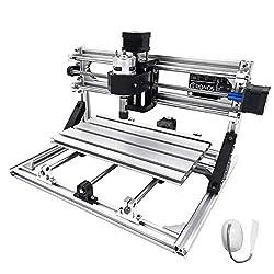 Techlifer 3018 cnc engraving machine milling 3 axis CNC Router Machine Er11 + 5MM milling machine cnc 300X180X45Mm engraving machine kit (Er11)