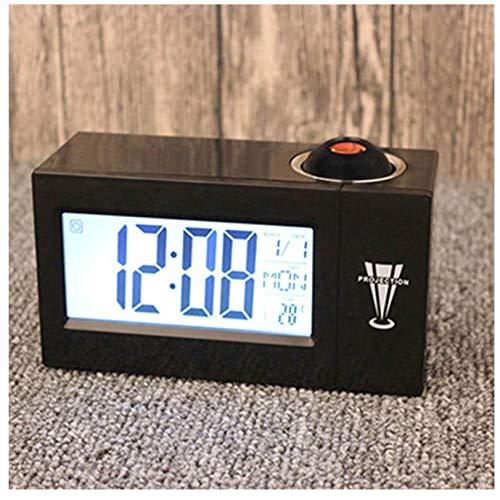 ZYZYY Temperatur- und Feuchtigkeitsanzeige LED Digitale Nixie-Uhr Sprachsteuerung Projektionsuhr Zubehör Moderne intelligente Desktop-UhrZimmer Schlafzimmer Stumm