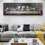 Última Cena Lienzo Reproducciones de pinturas Arte de pared clásico Impresiones en lienzo de Da Vinc...