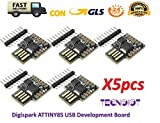 【Digispark ATTINY85】 Il Digispark è una scheda di sviluppo per microcontrollori basata su Attiny85 simile alla linea, solo più economica, più piccola e un po 'meno potente. Con tutta una serie di scudi per estendere la sua funzionalità e la possibili...
