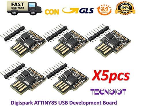 TECNOIOT 5pcs Digispark ATTINY85 General Micro USB Development Board