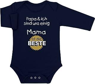 Shirtgeil Mutter Geschenk - Papa & ich sind Uns einig Mama ist die Beste Baby Langarm Body